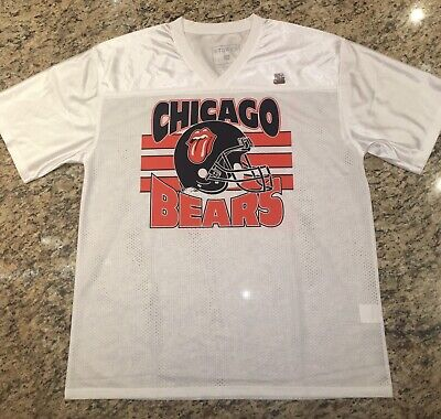 Rolling Stones Chicago Bears Authentic Lrg NFL Football Jersey Concert Shirt '19