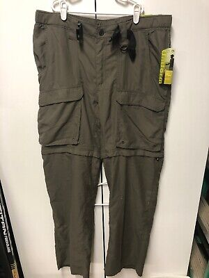 Boy Scouts American Switchback Uniform Pant Cargo Zip Off Green Womens L New