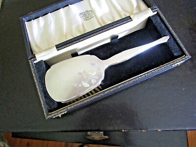 Rare Early 20Th Century Chinese Sterling Silver Hair Brush With Box 纯银器