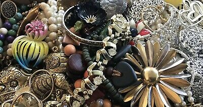 Huge Vintage To Now Junk Drawer Jewelry Lot Estate Find 655