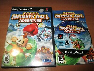 Super Monkey Ball Adventure (PlayStation 2, 2006) EX+ Shape, COMPLETE!