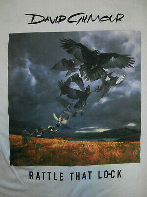DAVID GILMOUR Rattle That Lock EURO TOUR 2016 OFFICIAL T-Shirt Psych PINK FLOYD
