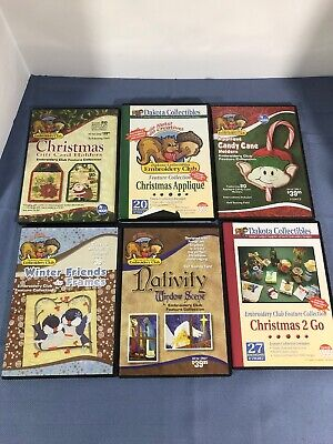 Lot 6 Dakota Collectibles Embroidery CDs Christmas Theme
