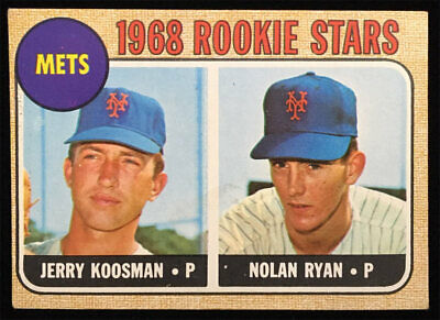 1968 Nolan Ryan Jerry Koosman Rookie Card Topps Baseball Set #177 Mets RC NICE!