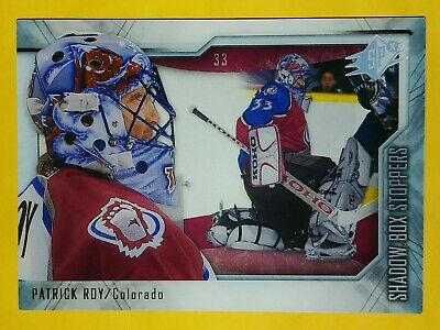 2010-11 ud spx patrick roy colorado avalanche shadow box stoppers #st3