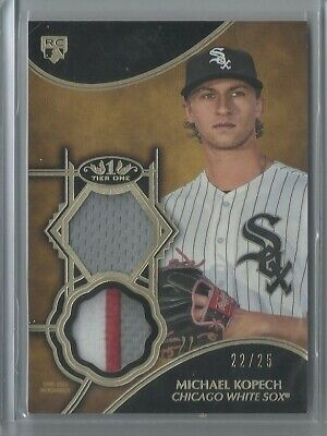 2019 Topps Tier One Michael Kopech Dual Patch 22/25 RC - White Sox