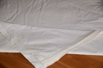 Old Fabric Varnishing Approx. 260 x 216 cm before 1945 with Monogram