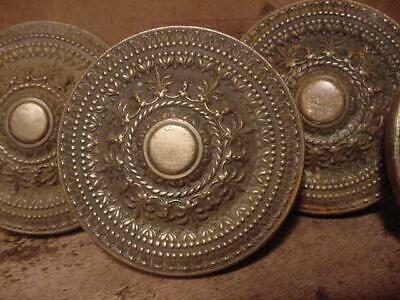 5 Matching Antique Ornate Art Nouveau Eastlake Victorian Door Knobs