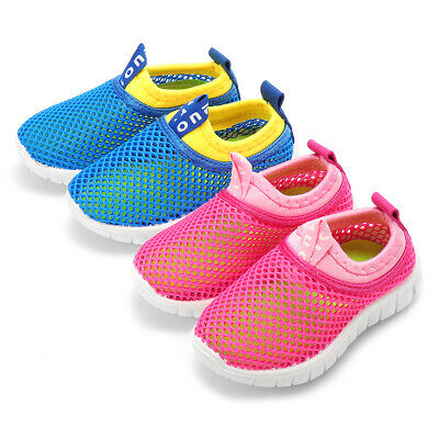 Kids Toddler Mesh Hollow Shoes Soft Sole Lightweight Running Breathable