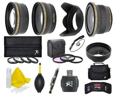 58mm Camera Accessory Kit for Canon EOS Rebel DSLR Camera with 18-55mm Lens