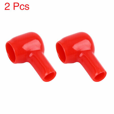 2pcs 31mm Long Red Soft PVC Battery Terminal Cover Insulation Cap Sleeve Boot