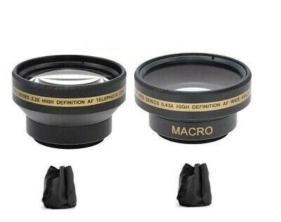 Xit 30mm Pro Series 30mm Wide Angle & 2.2x Telephoto Lens For Sony Handycam