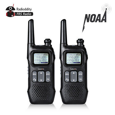 Bid! 2Pack Radioddity FS-T1 Two-way Radio NOAA Weather FRS Walkie Talkie for USA