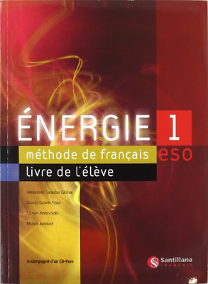 Energie 1 Livre De Eleve Student Book and Cd, SARACIBAR, INMACULADA, Good Condit