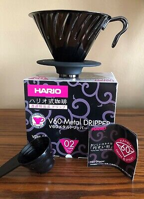 Hario Japan V60 Metal Coffee Dripper Size 02 (1-4 Cups) VDM-02BC - NEW IN BOX