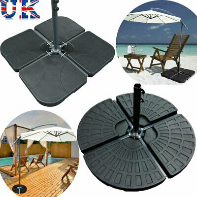 4 Piece Parasol Base Stand Weights for Banana Hanging Cantilever Umbrella Patio