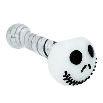 Glass Tobacco Pipe Halloween Lovely Skull Jack Glass Pipe Portable Smoking V2D2