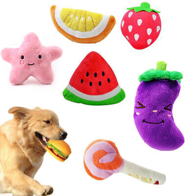 For Dog Cat Toy Play Funny Pet Puppy Chew Squeaker Squeaky Plush Sound Toys Lots