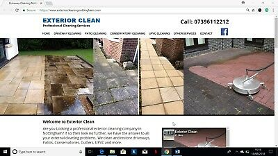 Driveway & Patio Cleaning Business for Sale, Leaflet Template & Website Included