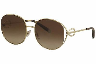 6245bc8f1 Authentic Tiffany & Co. 3065 - 60213B Sunglasses PALE GOLD/BROWN GRAD *NEW