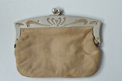 Vintage Ladies Small Bag Evening Purse Silver Plated