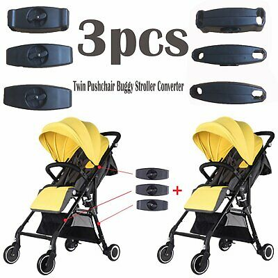 3PCS/Set Black Connector Couplers Portable Adapter For Yoyaplus Baby Stroller VS