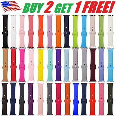 Silicone Band Wrist Strap For Apple Watch iWatch Sports Series 1/2/3/4 38-44mm