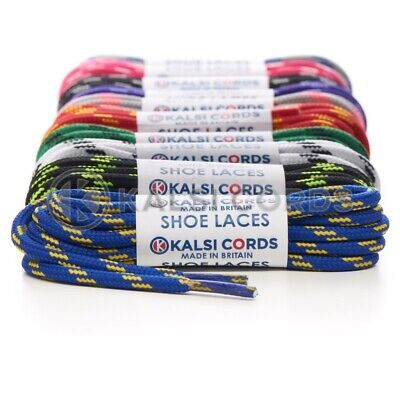 Round Cord Boot Shoe Laces For Trainers Hiking Walking Footwear 4 Fleck Pattern