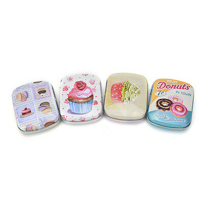 Mini Tin Sealed Jar Packing Boxes Jewelry Candy Box Small Storage Coin SC