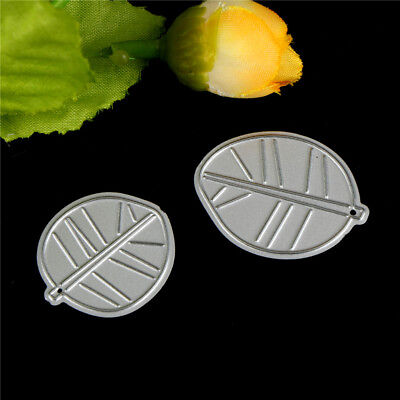 2Pcs Leaves Metal Cutting Dies Stencils For Diy Scrapbooking Album Cards DecoSC