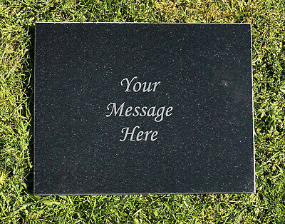 Personalised Engraved Granite Commemorative Customised Plaque - Any Name Message