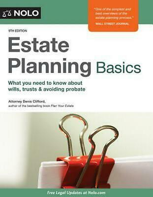 Estate Planning Basics by Denis Clifford (English) Paperback Book Free Shipping!