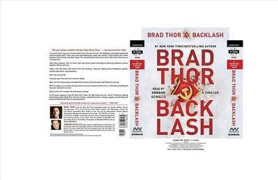 Backlash: A Thriller by Brad Thor (English) Compact Disc Book Free Shipping!