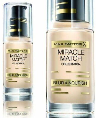 Max Factor Miracle Match Foundation Blur & Nourish Choose your Shade FREE Post