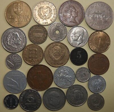 European Coins, Lot Of 24 From Different Countries