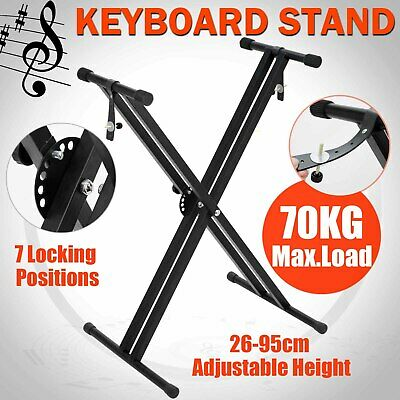 Keyboard Stand Double Braced X Type Music Piano Holder Height Adjustable Folding