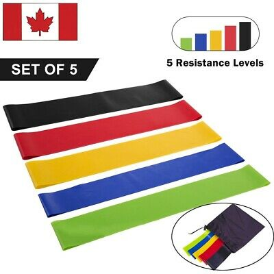 5Pcs Resistance Latex Stretch Fitness Loop Bands For Gym,Exercise,Running,Yoga