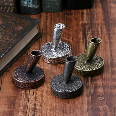 Vintage Metal Round Insertion Pen Holder for Feather Quill Dip Pens Student Gift