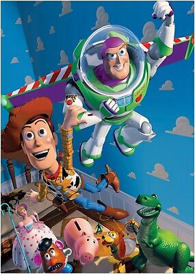 A0 Toy Story Woody Buzz And The Gang Kids Bedroom Canvas Wall Art Print A1