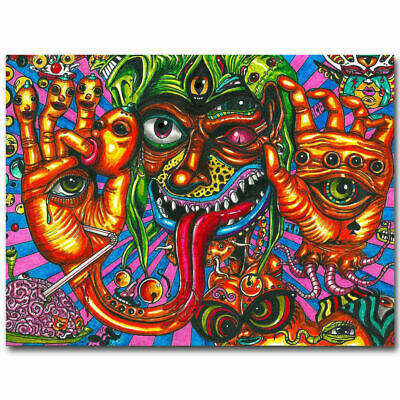 Art Poster Psychedelic Trippy Abstract 36 27x40inch Wall Silk N754