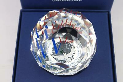 RARE Superb SWAROVSKI Limited Ed VJ DAY Lge 60mm Paperweight MINT in BOX  M7744