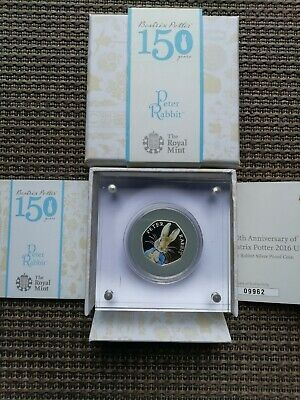 Peter Rabbit 2016 Silver Proof 50p Coin - Boxed With Special C.O.A  RARE