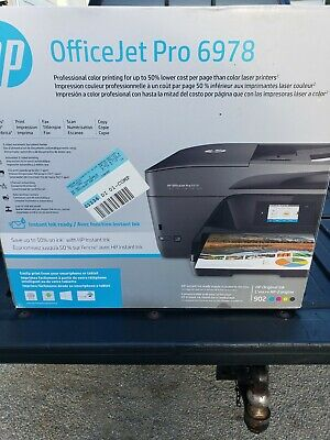 New HP OfficeJet Pro 6978 Wireless AIO Inkjet Printer w/ Mobile Printing *No Ink