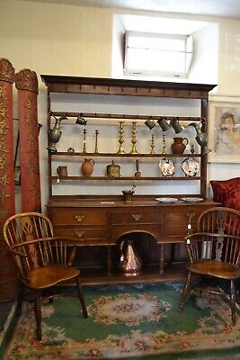 Late 17th - Early 18th C Open Kitchen Dresser with Plate Rack