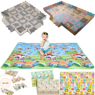Baby Play Mat Foam Floor Dino Puzzle Activity Gym Toy Toddler Kids Playmat USA