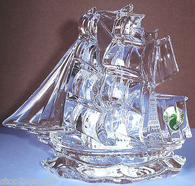 Waterford Tall Ship Crystal Sculpture Made in IRELAND New In Box!