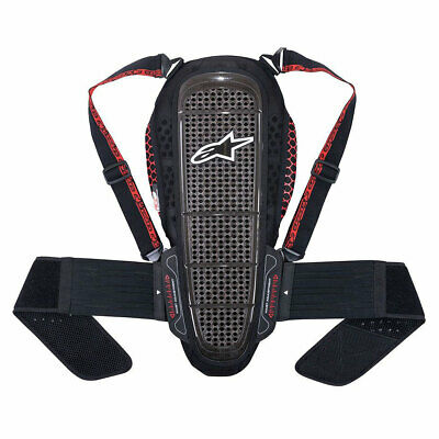 Alpinestars Nucleon KR-1 Motorbike Motorcycle Back Protector Smoke / Black / Red