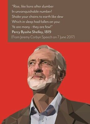 Jeremy Corbyn Quote Poster | A4 A3 & A3+ Sizes Laminated | HD Print Vote Labour