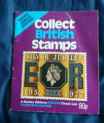 Vintage Stanley gibbons collect british stamps Silver Jubilee Edition