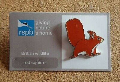RSPB pin badge - red squirrel - giving nature a home